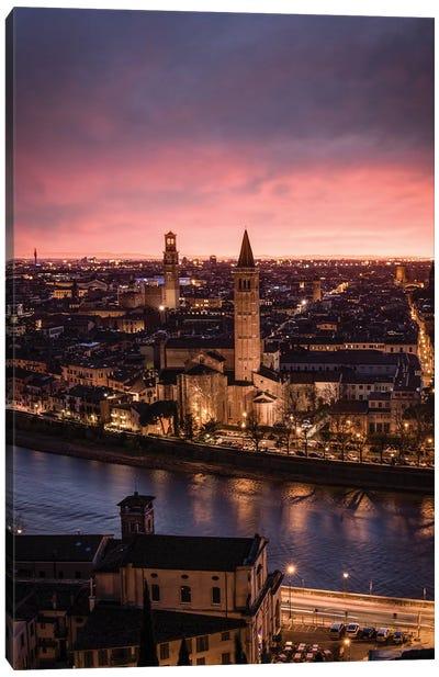 Sunset In Verona Canvas Art Print
