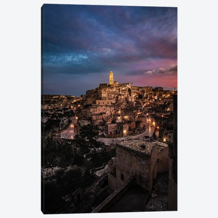 Sunset In Matera Canvas Print #ENZ145} by Enzo Romano Canvas Art