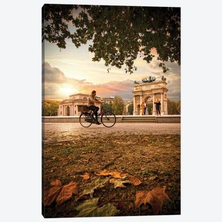 Arco Della Pace Canvas Print #ENZ148} by Enzo Romano Canvas Print