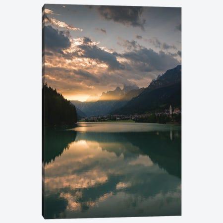 Lake Auronzo Canvas Print #ENZ162} by Enzo Romano Canvas Art Print