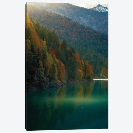 Lake Sauris Autumn Canvas Print #ENZ164} by Enzo Romano Canvas Wall Art