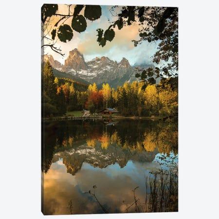 Lake Welsperg Canvas Print #ENZ165} by Enzo Romano Canvas Wall Art