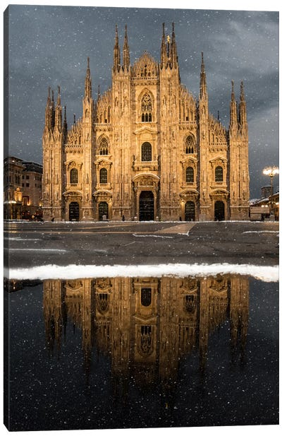 Milano Snow Canvas Art Print