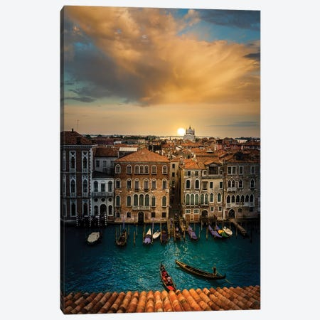Sunset In Venice Canvas Print #ENZ25} by Enzo Romano Canvas Art Print
