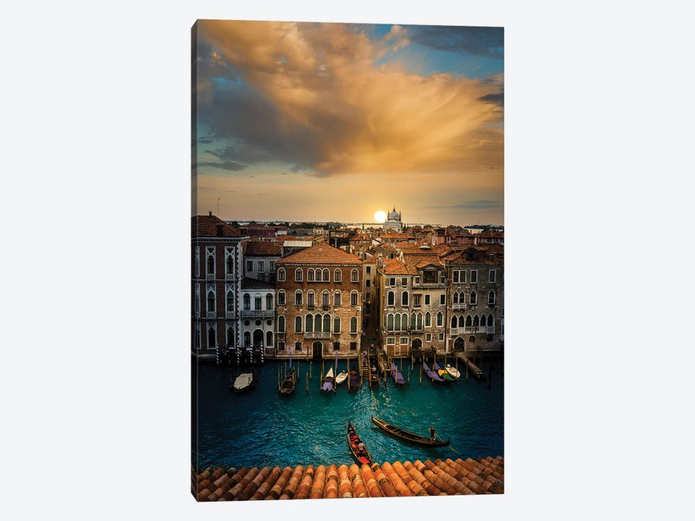 Sunset In Venice by Enzo Romano 1-piece Canvas Print
