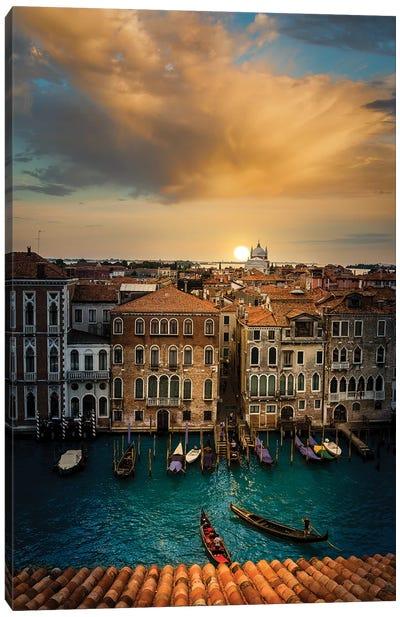 Sunset In Venice Canvas Art Print