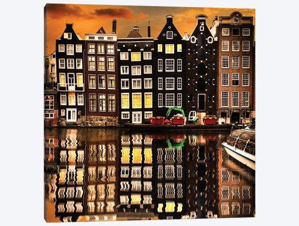Amsterdam II Canvas Print #ENZ2} by Enzo Romano Canvas Artwork