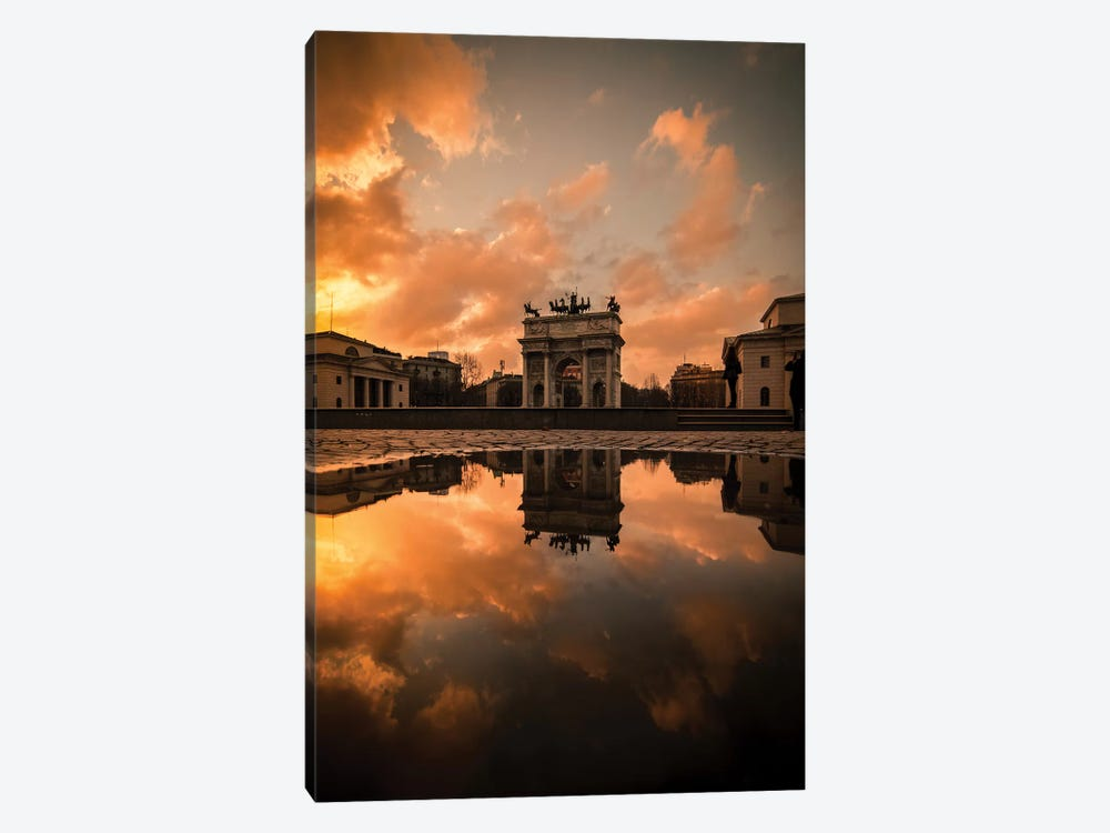 Arco Della Pace Sunset by Enzo Romano 1-piece Art Print