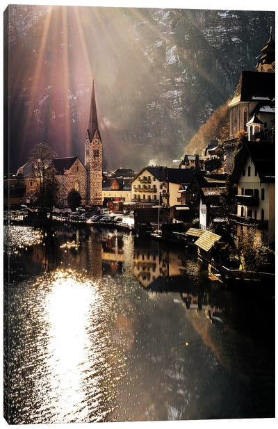 Hallstatt Sunlight Canvas Art Print