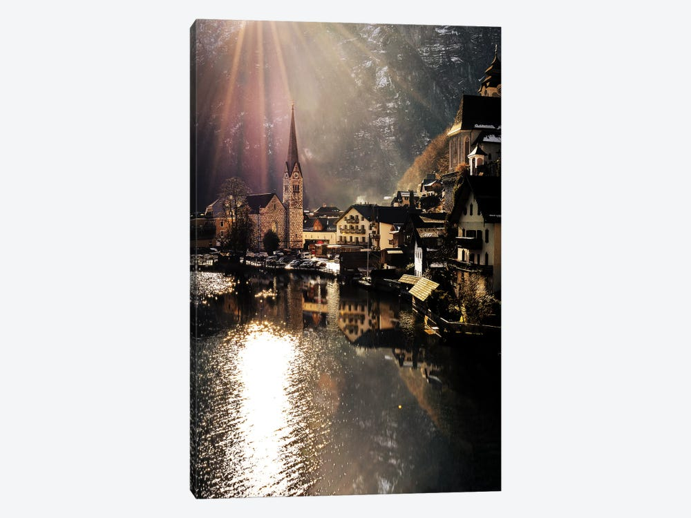 Hallstatt Sunlight by Enzo Romano 1-piece Canvas Wall Art