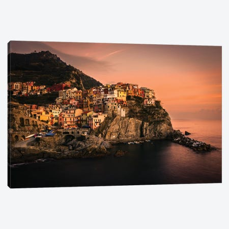 Manarola Canvas Print #ENZ37} by Enzo Romano Canvas Wall Art