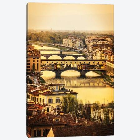 Ponte Vecchio Firenze Canvas Print #ENZ40} by Enzo Romano Canvas Wall Art