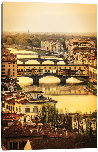 Ponte Vecchio Firenze Canvas Art Print