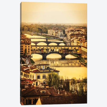 Ponte Vecchio Firenze Canvas Print #ENZ40} by Enzo Romano Canvas Wall Art