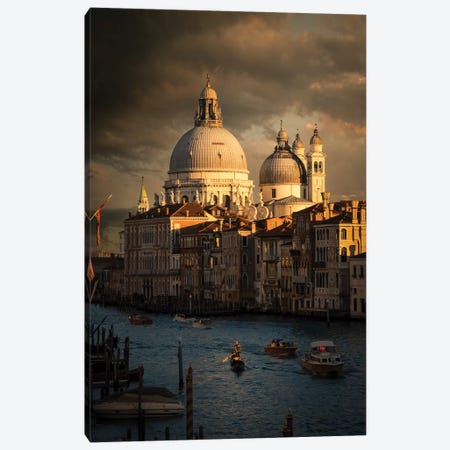 Sunset Venice Canvas Print #ENZ44} by Enzo Romano Canvas Art Print