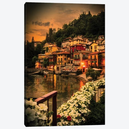 Varenna Canvas Print #ENZ48} by Enzo Romano Canvas Artwork