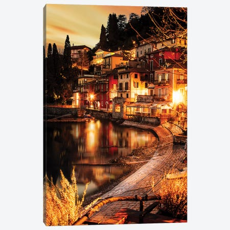 Varenna Lunga Esposizione Canvas Print #ENZ49} by Enzo Romano Canvas Art