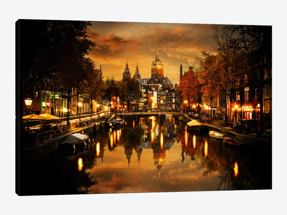 Amsterdam IV by Enzo Romano 1-piece Canvas Art