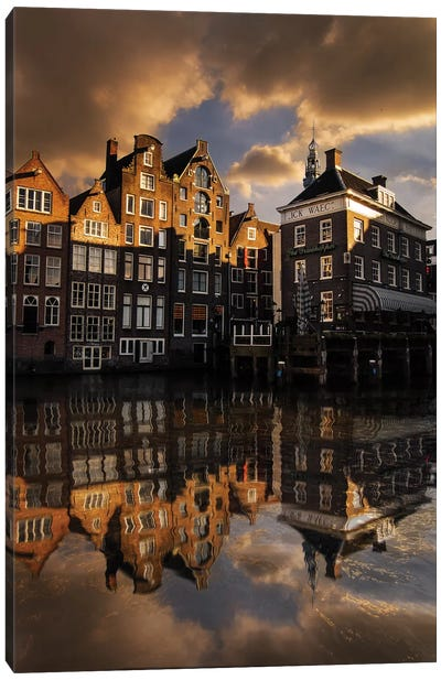 Amsterdam Houses Canvas Art Print