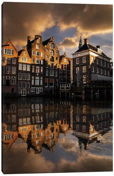 Amsterdam Houses Canvas Art Print