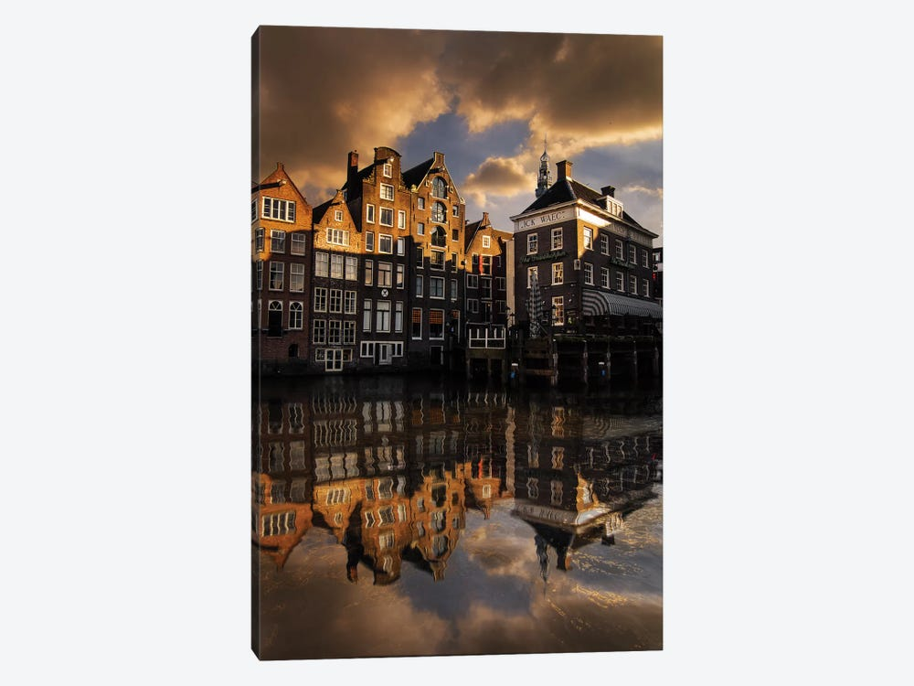Amsterdam Houses by Enzo Romano 1-piece Canvas Art
