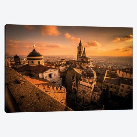 La Citta Alta, Bergamo, Italy Canvas Print #ENZ56} by Enzo Romano Canvas Wall Art