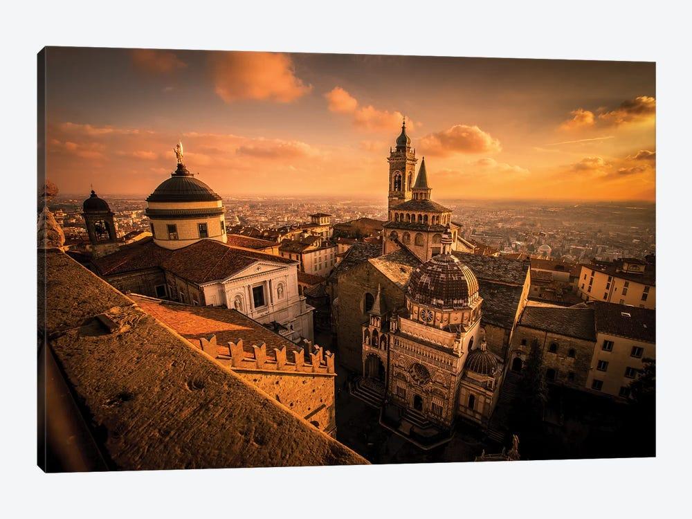 La Citta Alta, Bergamo, Italy by Enzo Romano 1-piece Canvas Print