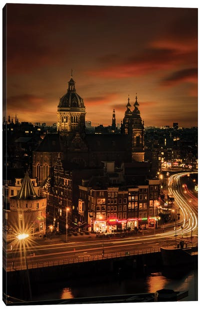 Amsterdam, 10 sec. Canvas Art Print