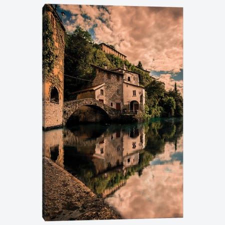 Nesso On Lake Como Canvas Print #ENZ60} by Enzo Romano Canvas Art