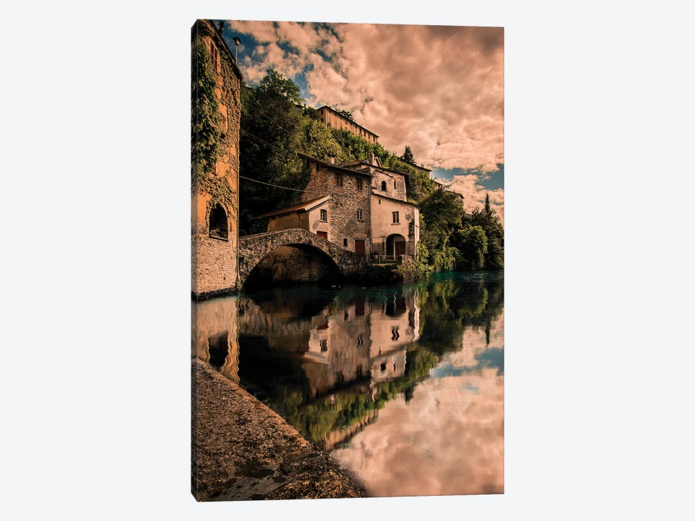 Nesso On Lake Como by Enzo Romano 1-piece Canvas Artwork
