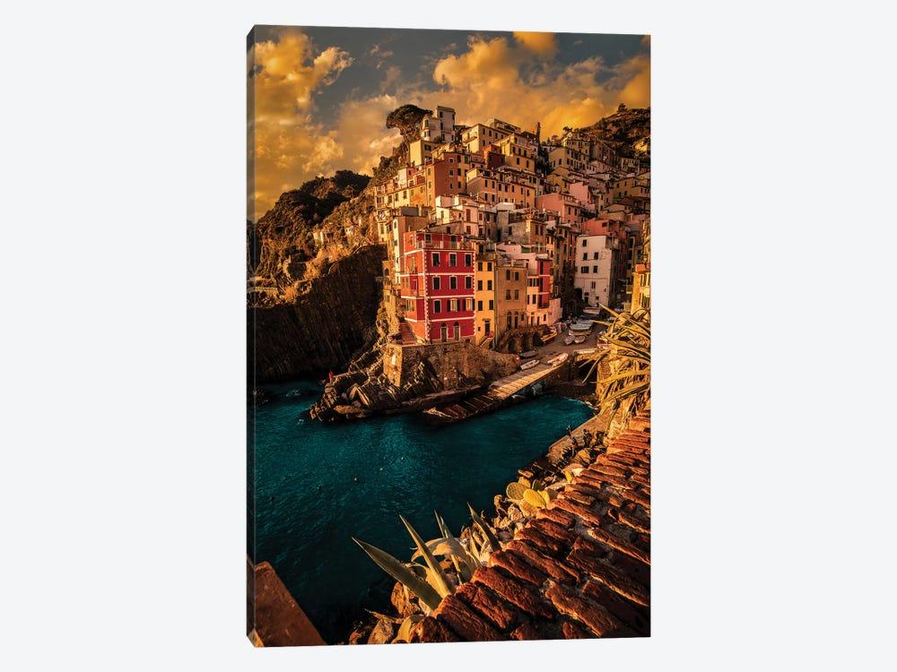 Riomaggiore, Cinque Terre by Enzo Romano 1-piece Canvas Art Print