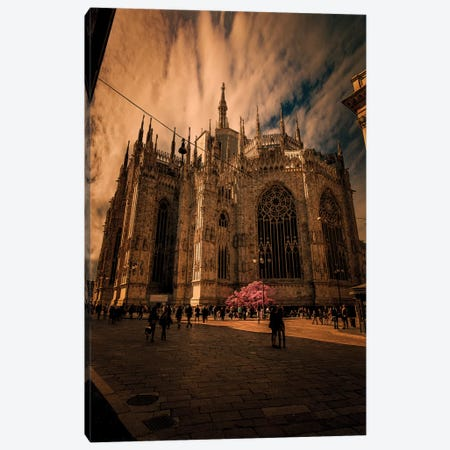 Duomo Milano, Spring Canvas Print #ENZ62} by Enzo Romano Canvas Wall Art