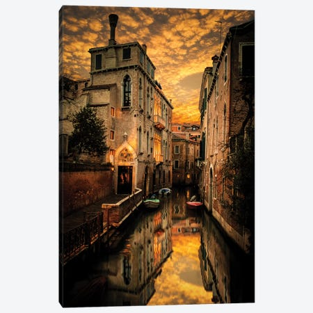 Venice Canals Canvas Print #ENZ64} by Enzo Romano Art Print