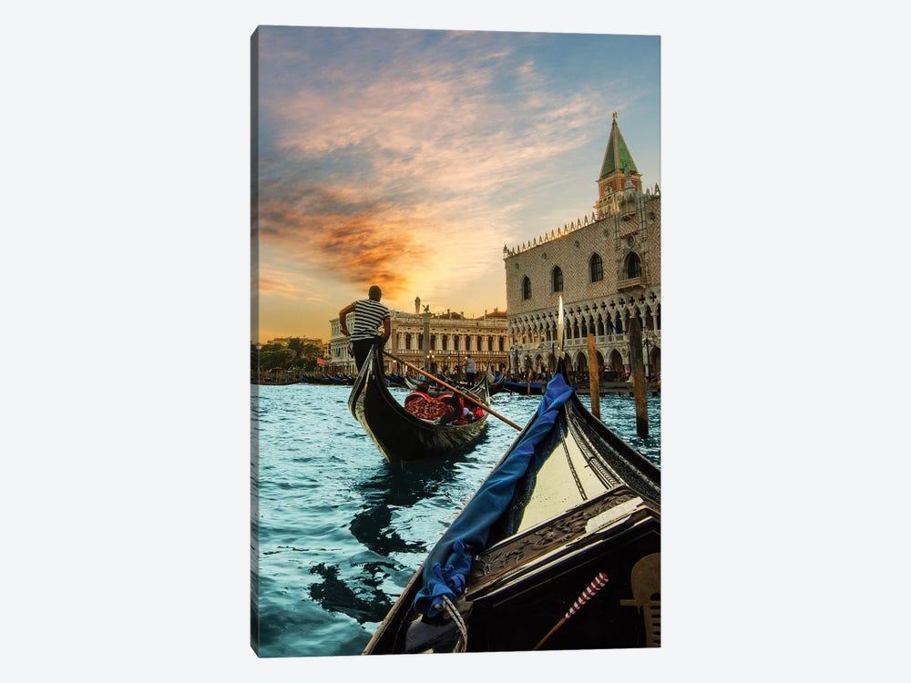 Gondola Ride by Enzo Romano 1-piece Canvas Wall Art