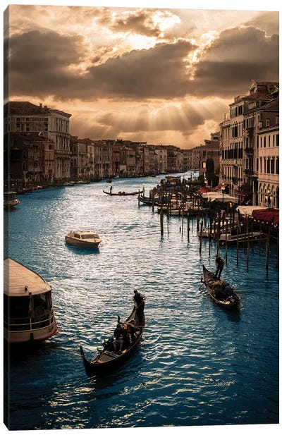 Rialto Sunset Canvas Art Print