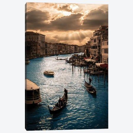 Rialto Sunset 3-Piece Canvas #ENZ69} by Enzo Romano Canvas Artwork