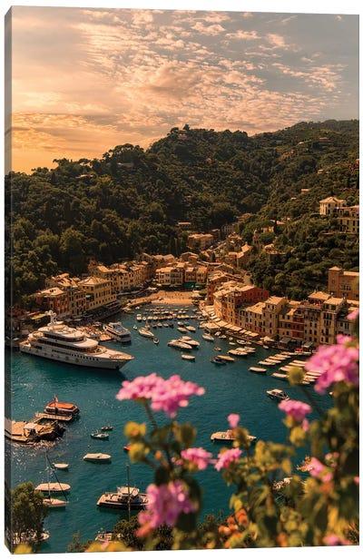 Portofino with flower Canvas Art Print