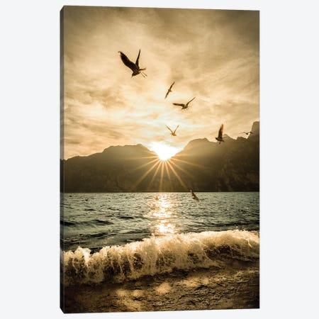 Lake Of Garda Torbole 3-Piece Canvas #ENZ90} by Enzo Romano Art Print