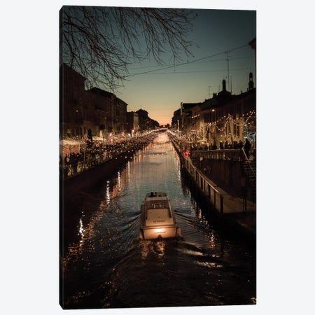 Milano Navigli Canvas Print #ENZ91} by Enzo Romano Art Print