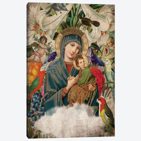 Madonna And Child Canvas Print #EOM187} by Elo Marc Canvas Art