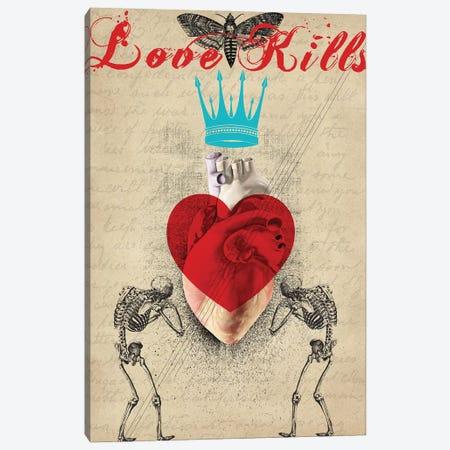 Love Kills Canvas Print #EOM77} by Elo Marc Canvas Artwork