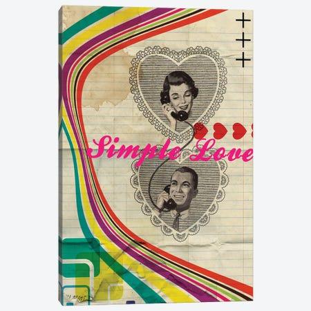 Simple Love Canvas Print #EOM85} by Elo Marc Canvas Art Print