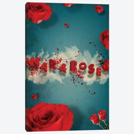 War And Roses Canvas Print #EOM91} by Elo Marc Canvas Print