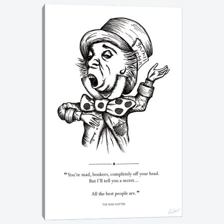Alice in Wonderland The Mad Hatter Canvas Print #EOR10} by Eleanor Stuart Canvas Art