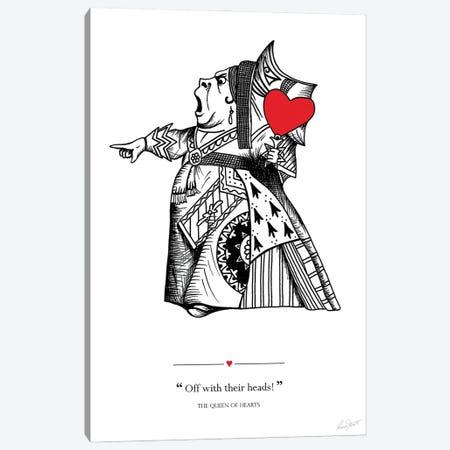 Alice in Wonderland The Queen of Hearts Canvas Print #EOR12} by Eleanor Stuart Canvas Artwork