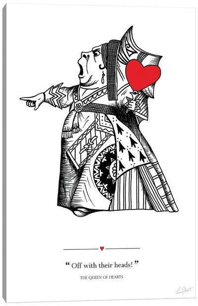 Alice in Wonderland The Queen of Hearts Canvas Art Print