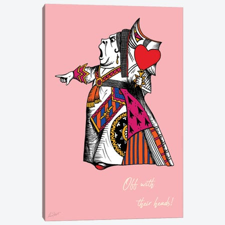 Alice in Wonderland The Queen of Hearts Colour Canvas Print #EOR13} by Eleanor Stuart Canvas Art
