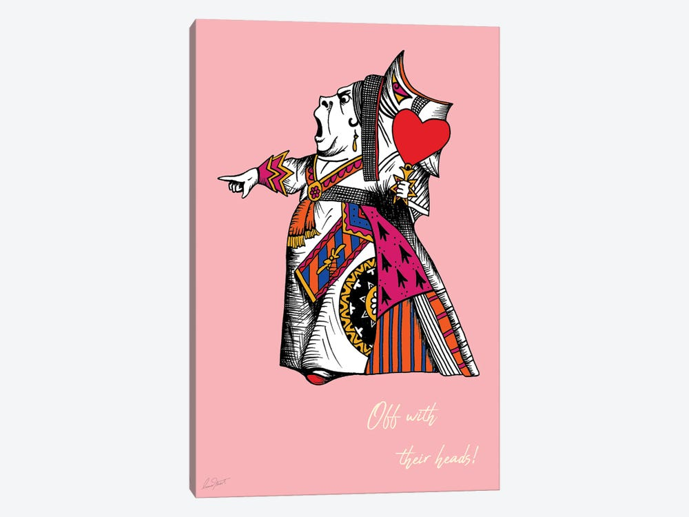 Alice in Wonderland The Queen of Hearts Colour by Eleanor Stuart 1-piece Canvas Art Print