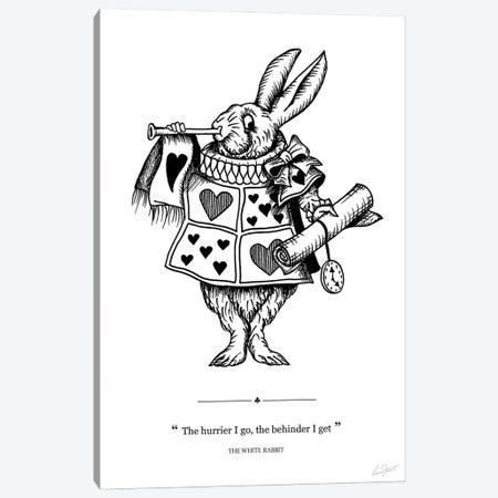 Alice in Wonderland The White Rabbit Canvas Print #EOR16} by Eleanor Stuart Canvas Print