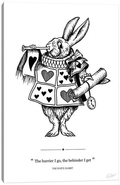 Alice in Wonderland The White Rabbit Canvas Art Print
